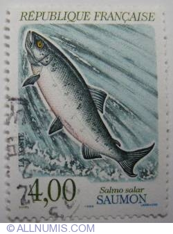 4 Francs 1990 - Salmo Salar (Atlantic Salmon)