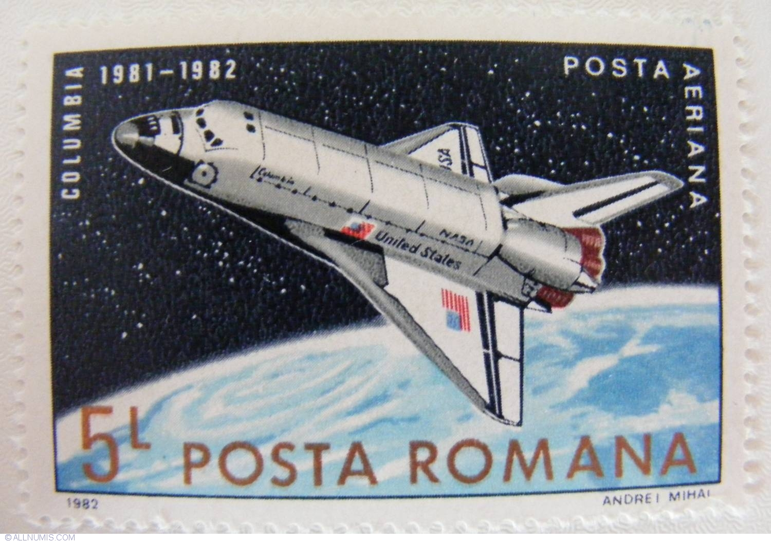 the first space shuttle on moon stamp - photo #26