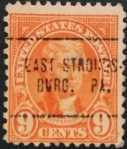 Image #1 of 9 Cents 1923 - Thomas Jefferson