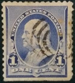 Image #1 of 1 Cent 1890 - Benjamin Franklin