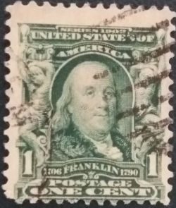 Image #1 of 1 Cent 1903 - Benjamin Franklin