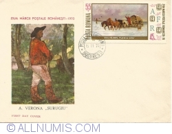 The day of the Romanian postal stamp