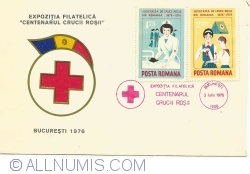 """Image #1 of Philatelic Exhibition """"The Centenary of the Red Cross"""" - Bucharest, 1976"""