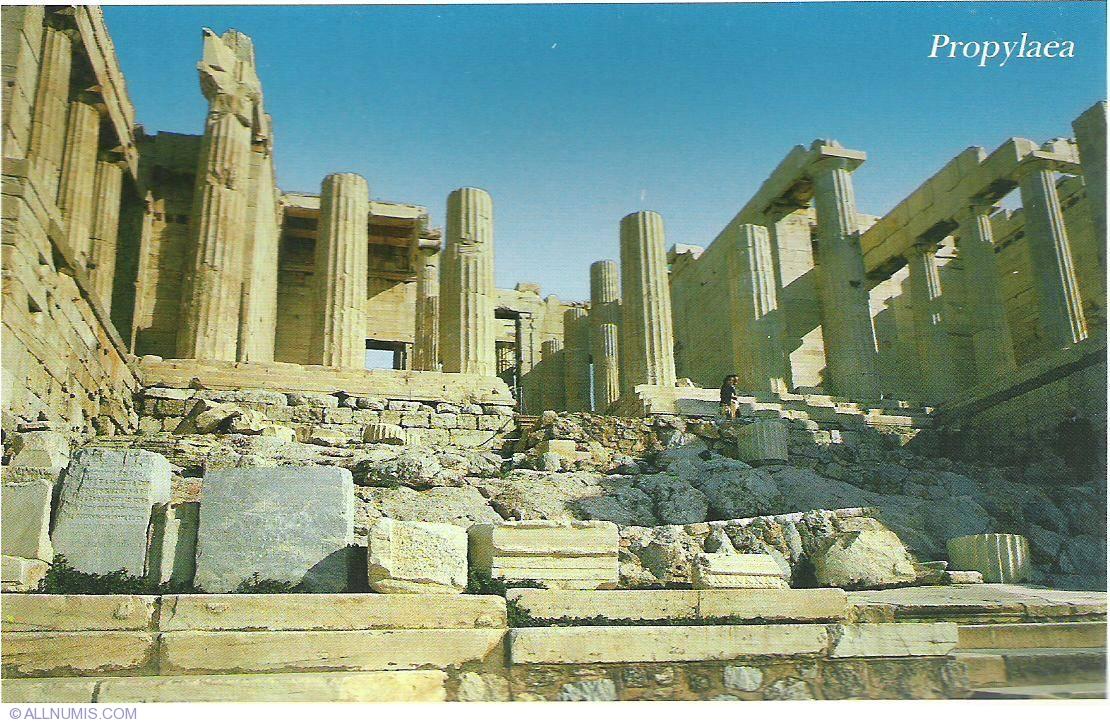 Athens-Acropolis propylaea, Athens - Greece - Postcard - 854