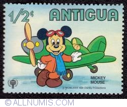 Image #1 of ½¢ Mickey Mouse, plane 1980