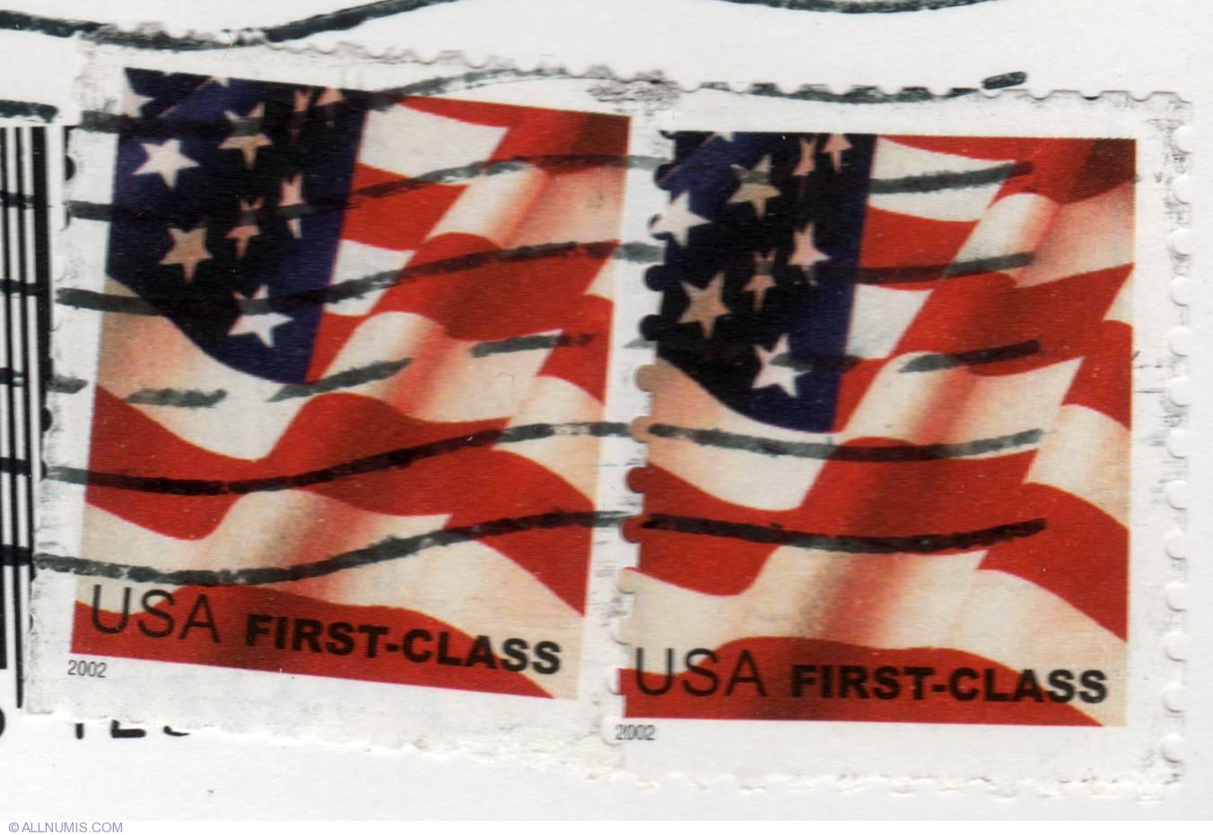 037 American Flag USA First Class
