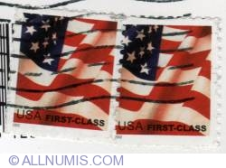 Image #1 of $0.37 American flag-USA first class