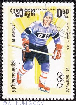 Imaginea #1 a 0,50 riel Ice Hockey 1984