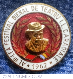 Image #1 of 3rd Theater festival I.L. Caragiale 1962 badge