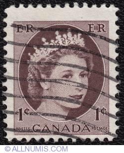 Imaginea #1 a 1¢ Elizabeth II 1954