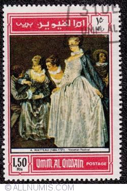 Image #1 of 1 rl 50 dh.  A. Watteau - Venetian Festival  1968