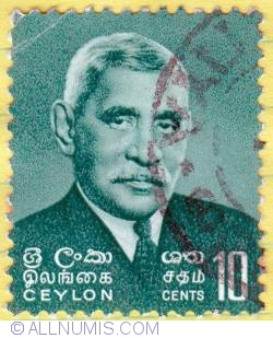 Image #1 of 10 cents D S Senanayake 1966