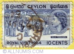 Image #1 of 10 Cents Queen Elizabeth II Royal visit 1954