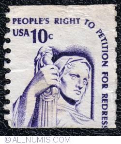 Image #1 of 10¢ Contemplation of Justice, J.E. Fraser 1977