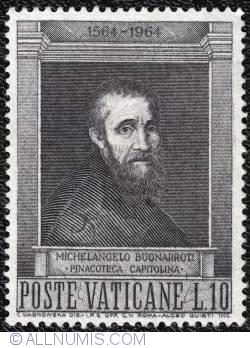 Image #1 of 10 lire Michelangelo 400th anniversary 1964