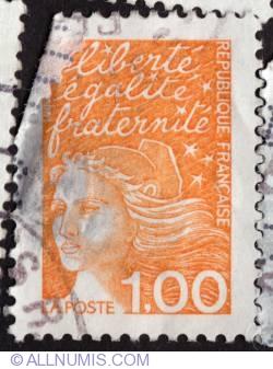 Imaginea #1 a 1,00 Fr Marianne de Luquet or 14 July Marianne 1997