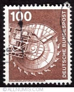 Imaginea #1 a 100 Pfennig coal excavators 1975