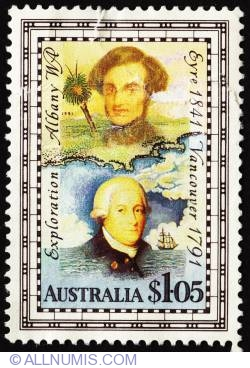 Image #1 of 1 Dollar 5 Cents - George Vancouver and Edward John Eyre
