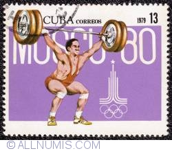 Image #1 of 13¢ 1980 Moscow Olympics 1979