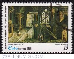 Image #1 of 13 Venetial Scene II - Michele Marieschi 1980