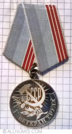 "Image #1 of Medal ""Veteran of Labour"""