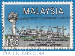 Image #1 of 15¢ Kuala Limpur int. airport 1965