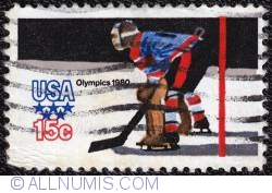 Image #1 of 15¢ Winter Olympics-Ice Hockey 1980