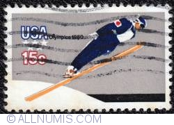 Image #1 of 15¢ Winter Olympics-Ski Jump 1980