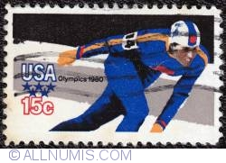 Image #1 of 15¢ Winter Olympics-Speed Skating 1980