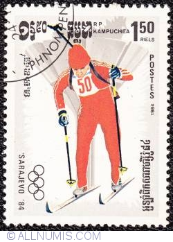 Imaginea #1 a 1,50 riels Biathlon 1984