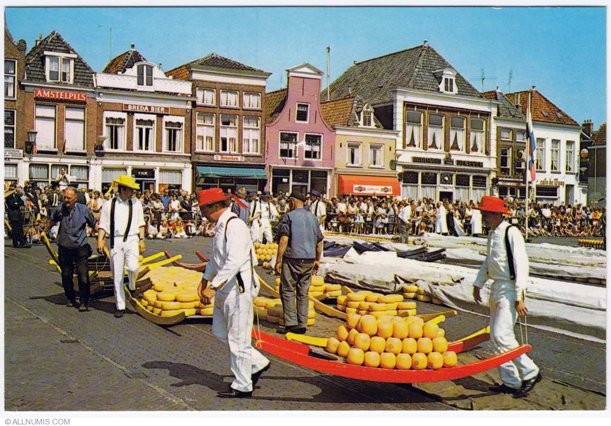 Alkmaar Netherlands  city pictures gallery : Alkmaar Cheese market 1978 , Alkmaar Netherlands Postcard 294