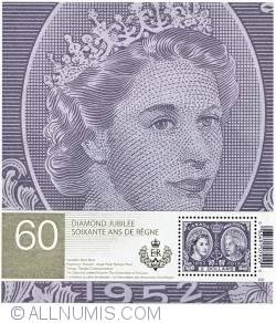 Imaginea #1 a $2 2012 - Queen Elizabeth II Diamond Jubilee Souvenir Sheet