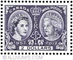 Imaginea #1 a $2 2012 - Queen Elizabeth II Diamond Jubilee