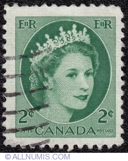 2¢ Elizabeth II 1954