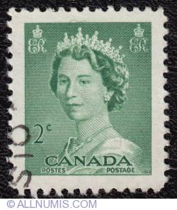 2¢ Queen Elizabeth II 1953