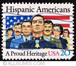 Image #1 of 20¢ 1984 - Hispanic Americans