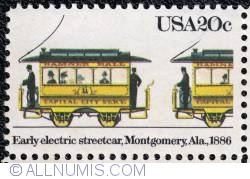 Image #1 of 20¢ Early electric streetcar 1983