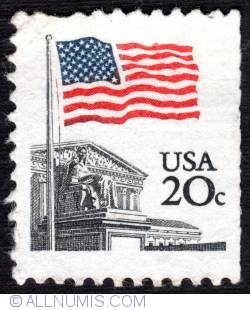 Image #1 of 20¢ Flag over Supreme Court 1981