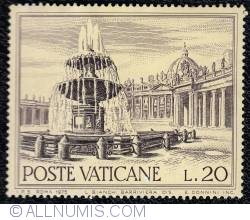 20 L 1975 -  Carlo Maderno's Fountain - St. Peter's Square