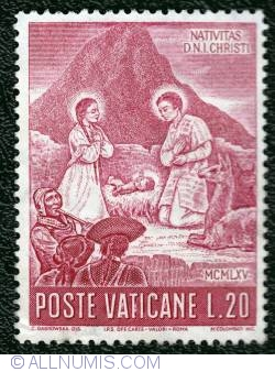 20 Lire 1965 -  Nativity scene