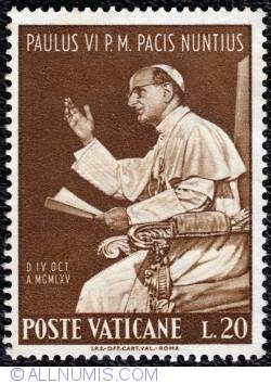 Image #1 of 20 Lire 1965 - Pope visit  to the U.N.O.