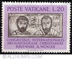 20 lire International Congress of Christian Archaeology 1962