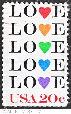 Image #1 of 20¢ LOVE 1984