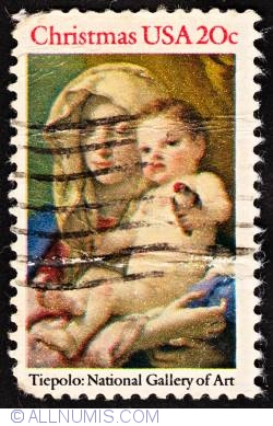 Image #1 of 20¢ Madonna & Child by Tiepolo 1982