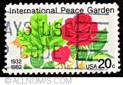 Image #1 of 20¢ Maple leaf & rose 1982
