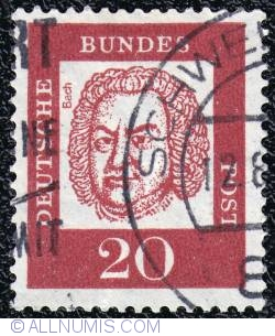 20 Pfennig Johann Sebastian Bach 1961