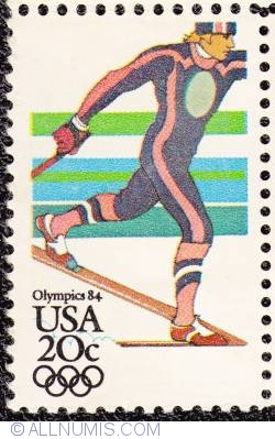 Image #1 of 20¢ Sarajevo Winter Olympics-Cross Country skiing 1984