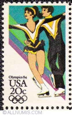 Image #1 of 20¢ Sarajevo Winter Olympics-Ice Dancing 1984