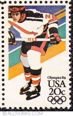 Image #1 of 20¢ Sarajevo Winter Olympics-Ice Hockey 1984