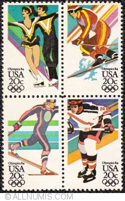 Image #1 of 20¢ X4 Winter Olympic Games, Sarajevo 1984
